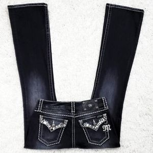 Miss Me Black Easy Boot Cut Jean's.  Size 25.